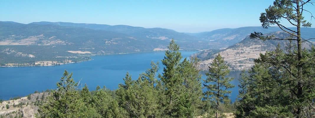 Adventure Bay and Okanagan Lake near Vernon BC
