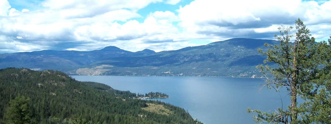 Okanagan Lake views abound in Vernon BC