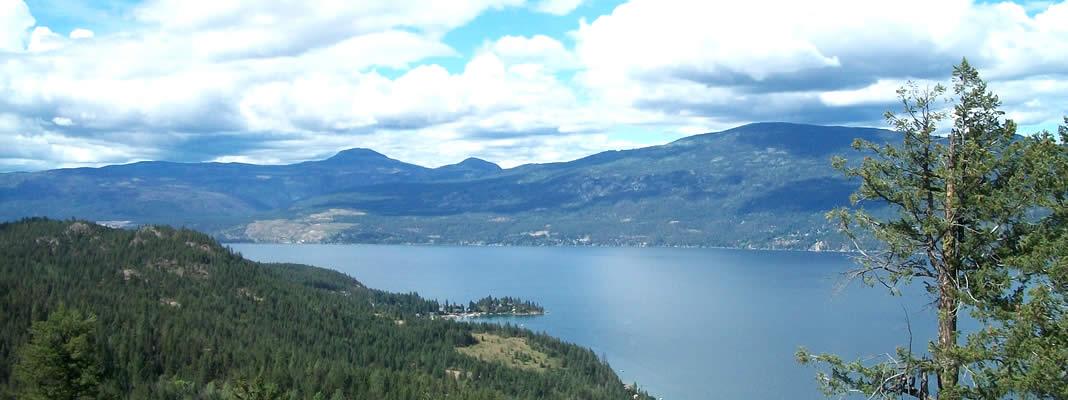 Okanagan Lake views abound in Vernon BC